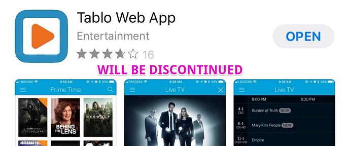 tablo_web_app_ios_discontinued