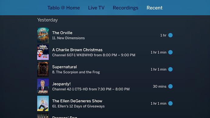 NEW - Tablo Apple TV App Update (v  1 3 & v1 4 1 & 1 4 2