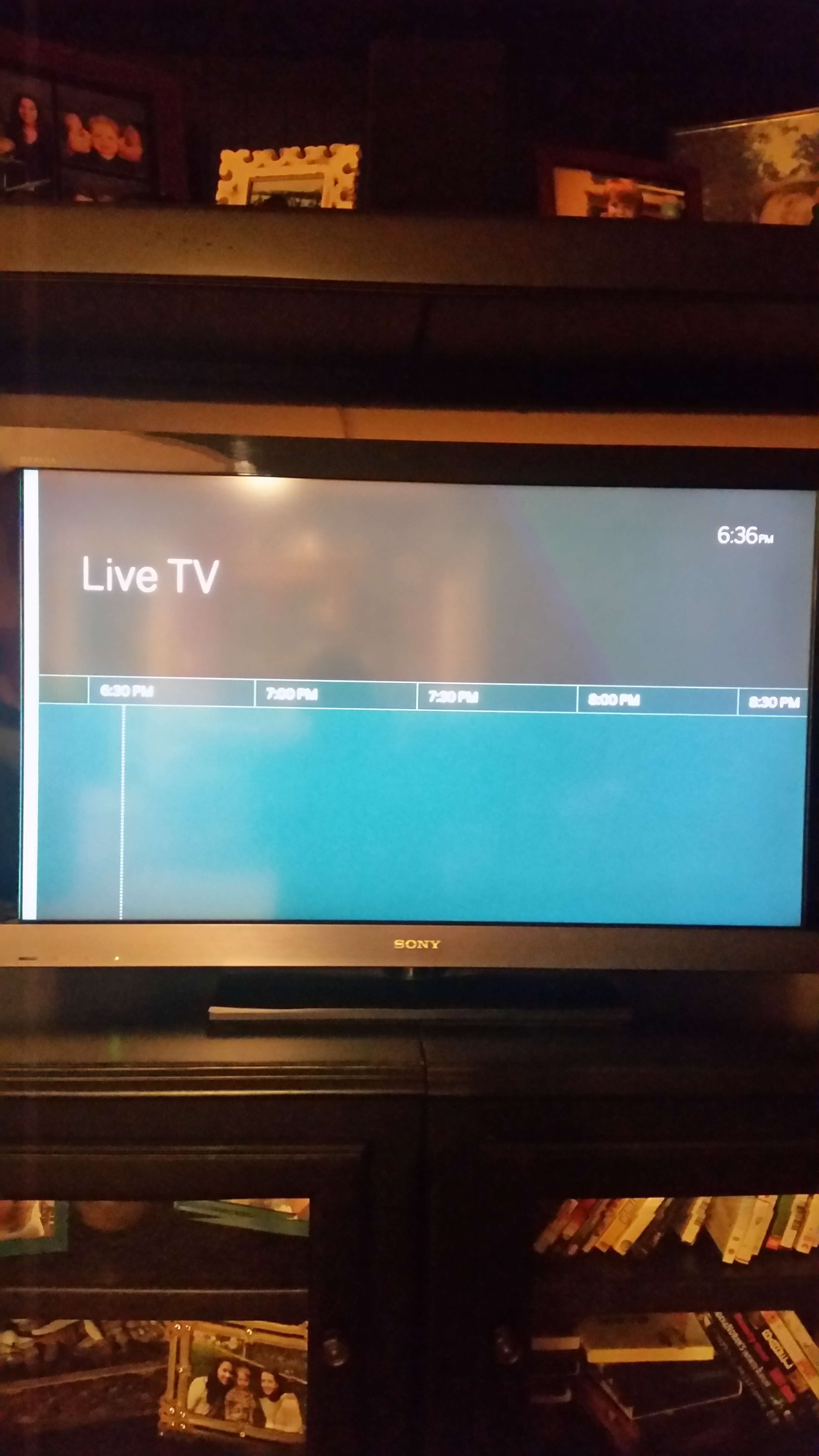 No live tv guide in android app - Support & Troubleshooting