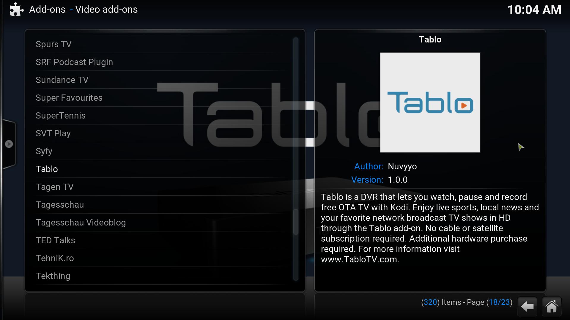 NEW - Tablo Add-On for KODI - Announcements - TabloTV Community